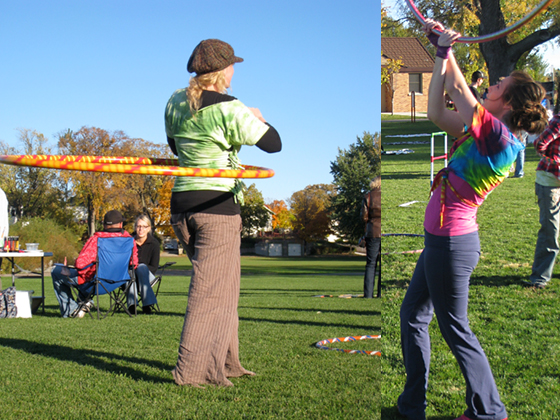 Hula Hooping at Green Band Jam