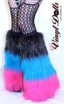 Hula Hooping Furry Leg Warmers Boot Covers