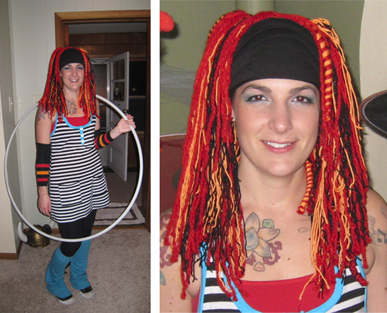 Hula Hooper Yarn Hair Falls