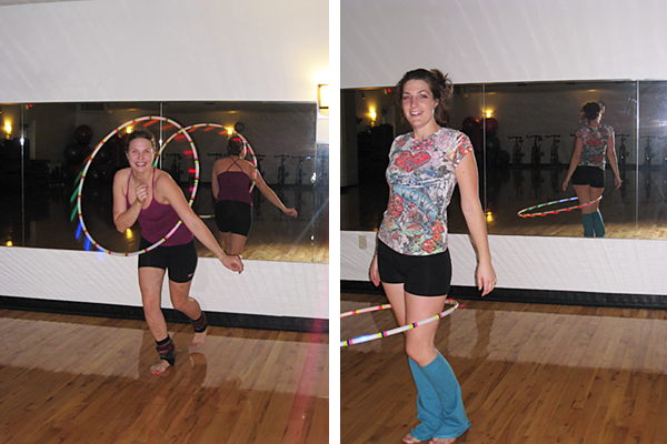 Hula hooping at the YMCA