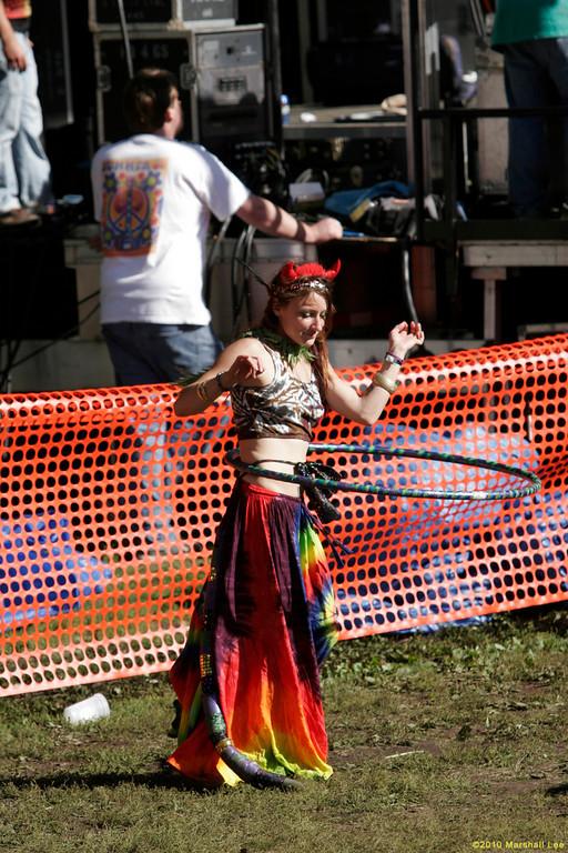 Hoop dancer in skirt