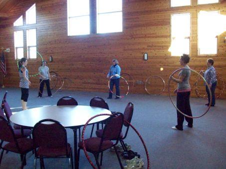 teaching hoop dance class