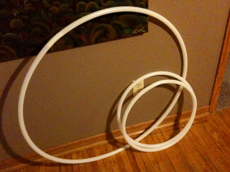 White Collapsable Hula Hoops