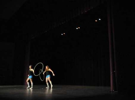 Hoopers on stage at talent show