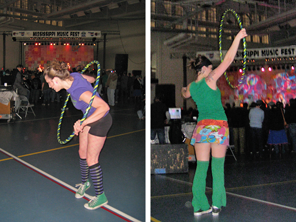 Hula Hooping at Mississippi Music Fest