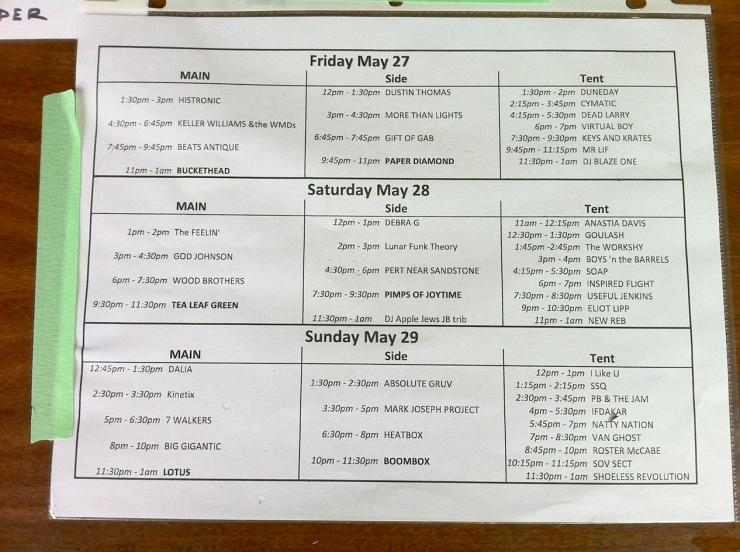 Bella Band Schedule