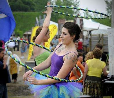 Hooping at the Wild West Show