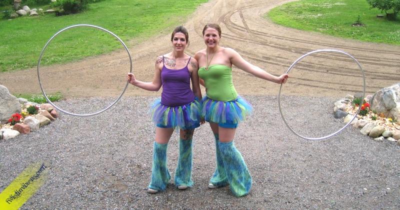 Tutu Hula Hoop Dancing Costumes