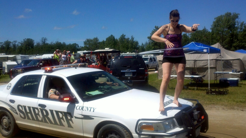 Moondance Jam Campground Hula Hooping Police