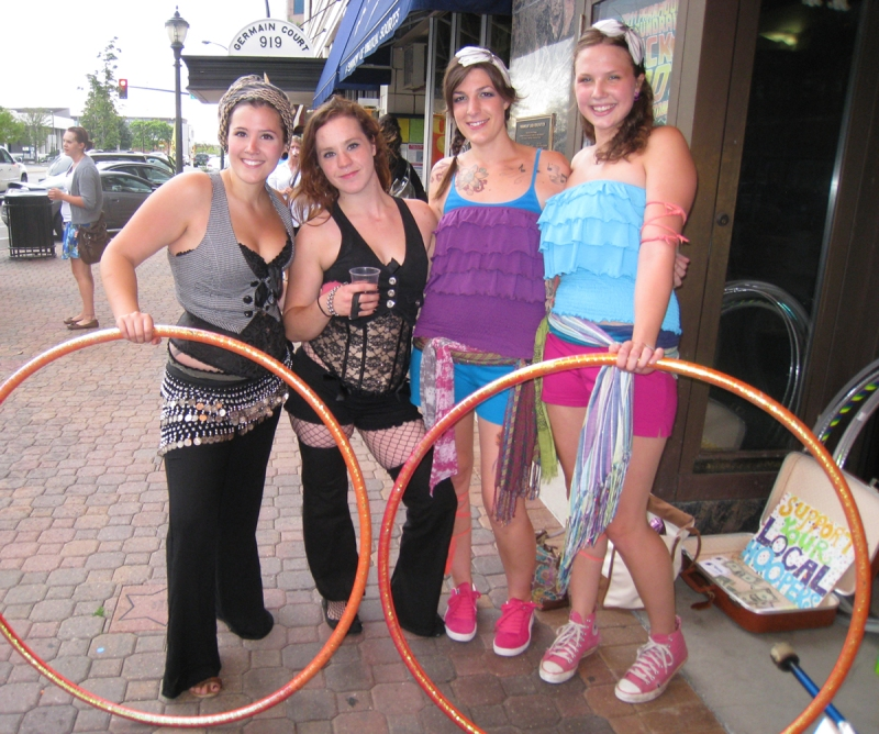 Hoopers at the art crawl
