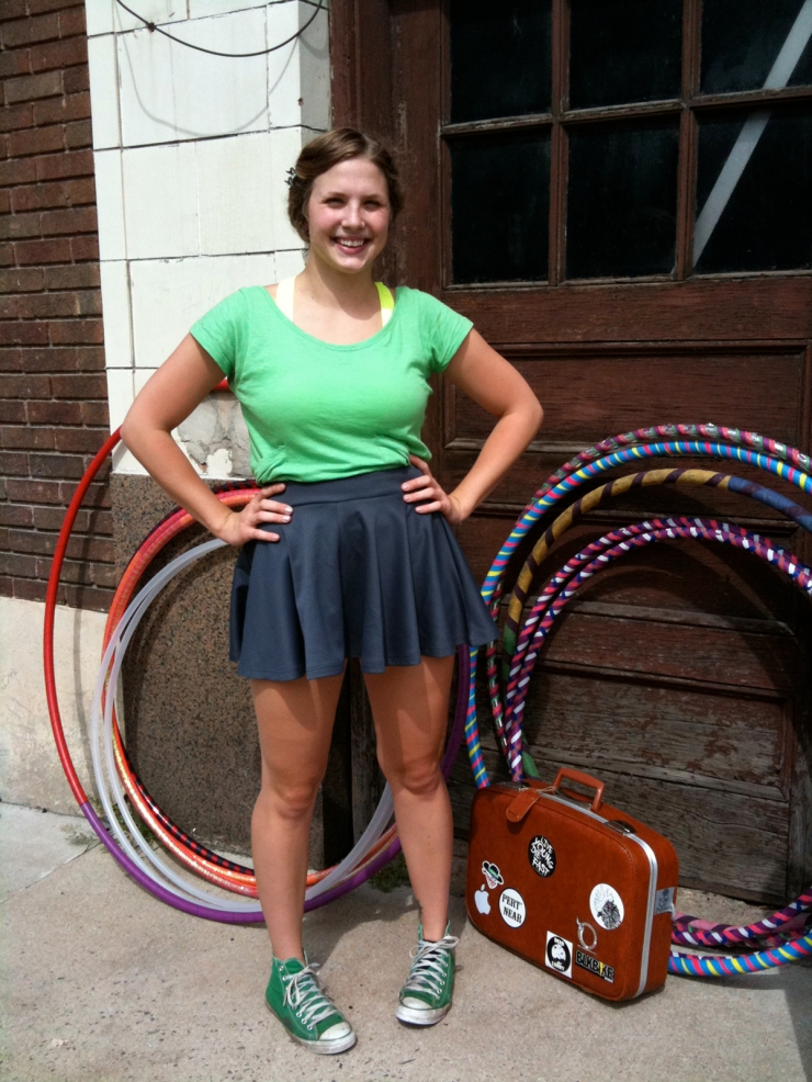 Hula Hooper by her hoops