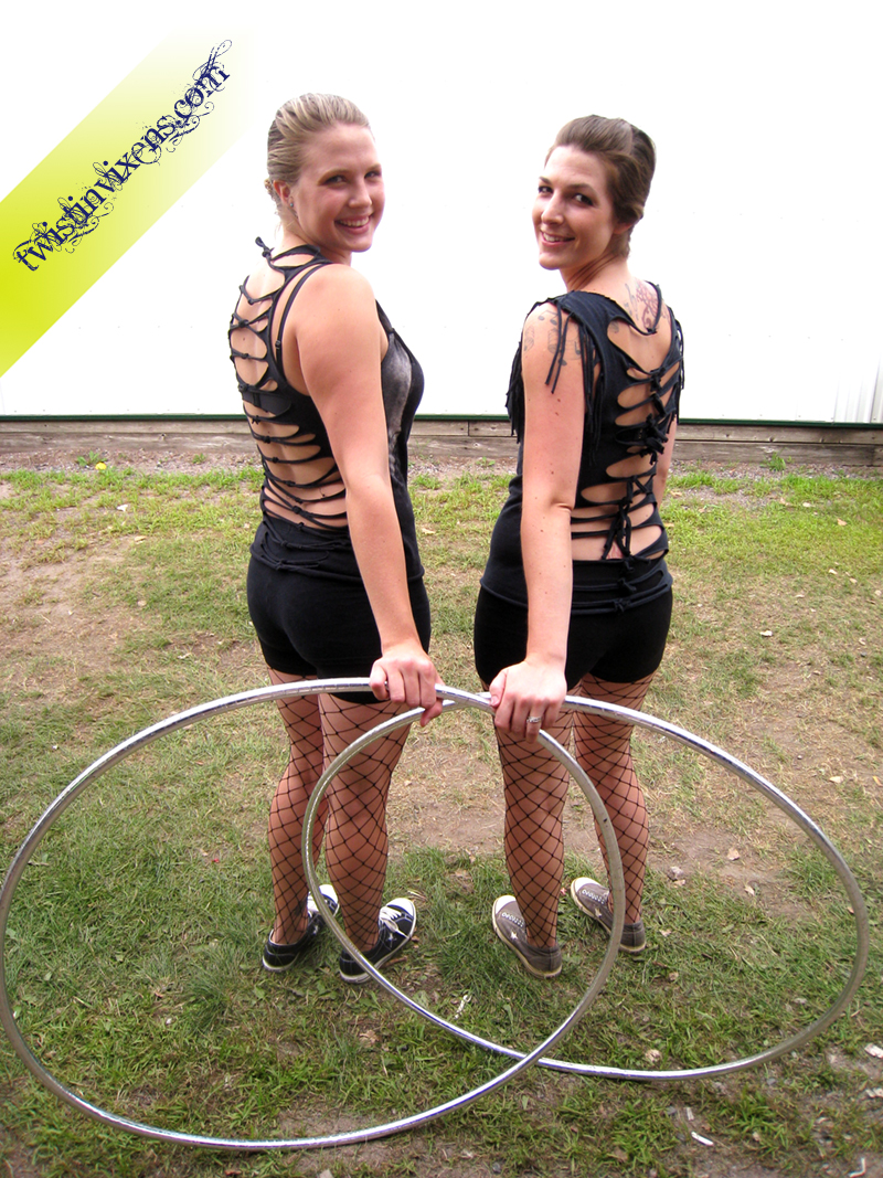 Cut Up T-Shirt Hooping Costumes