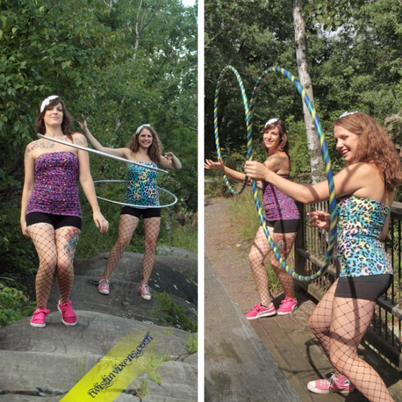 Hula Hooping Duo the Twistin Vixens