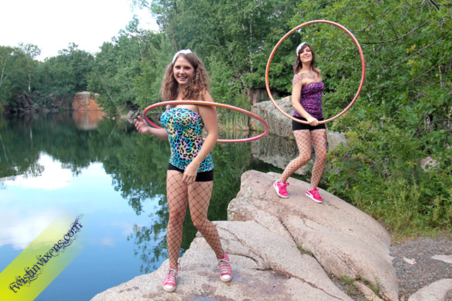 Hoop Dancing Duo the Twistin Vixens