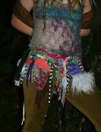 Recycled Scrap Hoop Dance Skirt