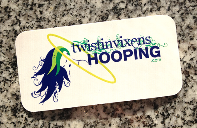 Twistin Vixens Hooping Sticker