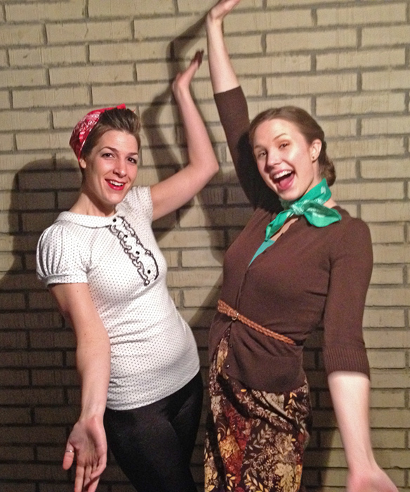 Fifties inspired Hula Hooping Outfits