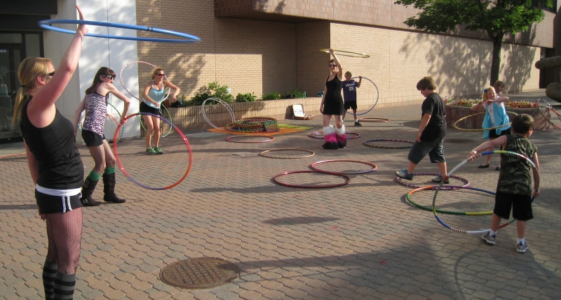 Hoopers Hooping at St. Cloud's Downtown Walk About