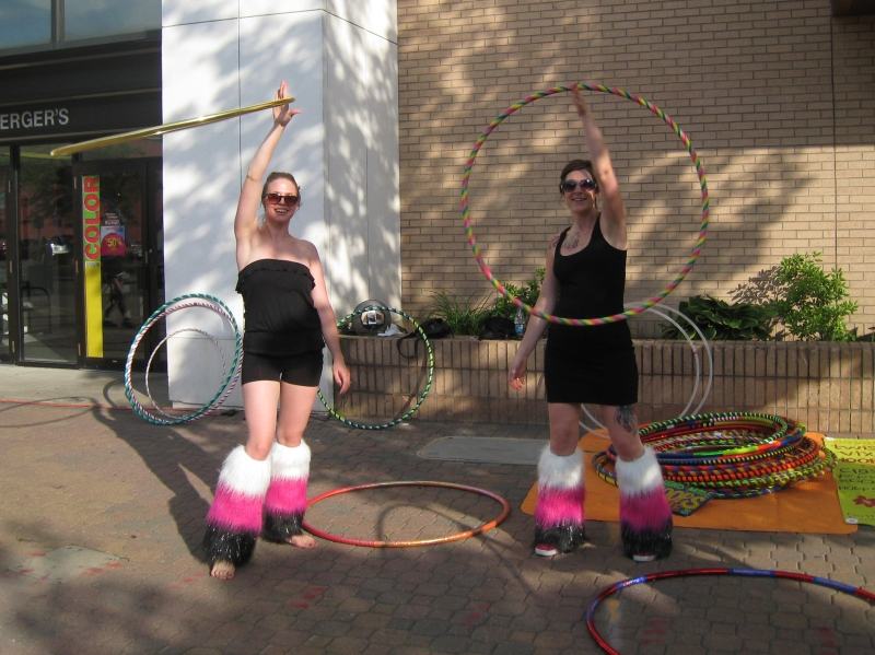 Twistin Vixens Hooping at the Walk About Downtown St. Cloud