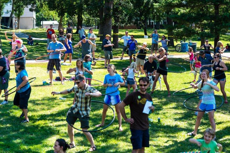 Hula Hooping World Record Attempt