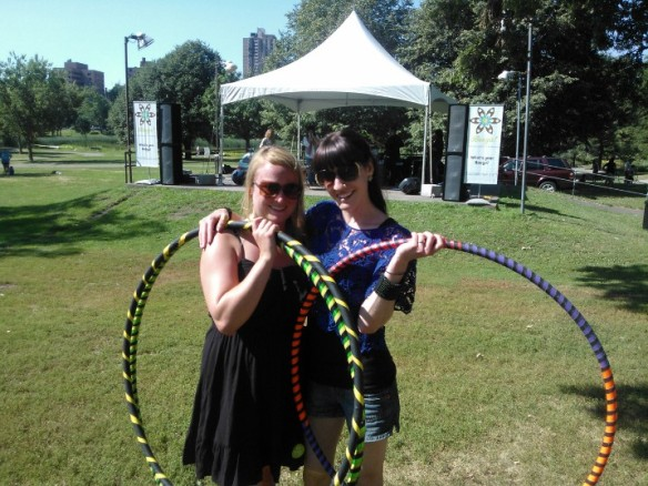 Hula hooping for world record attempt