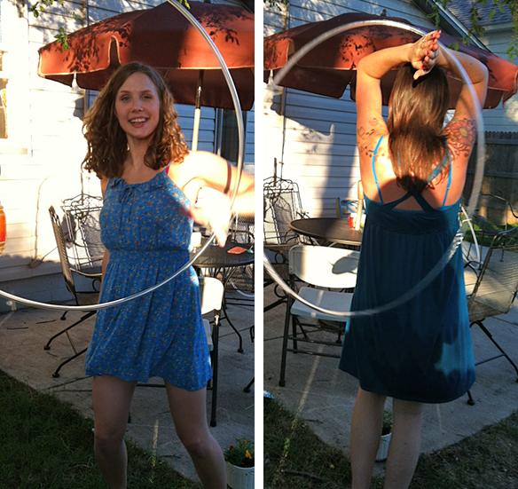 Twistin Vixens Using Bubble Hoops