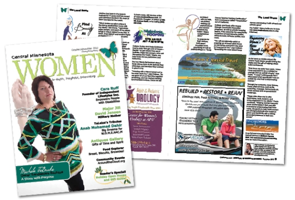 Twistin Vixens featured in Central MN Womens Magazine