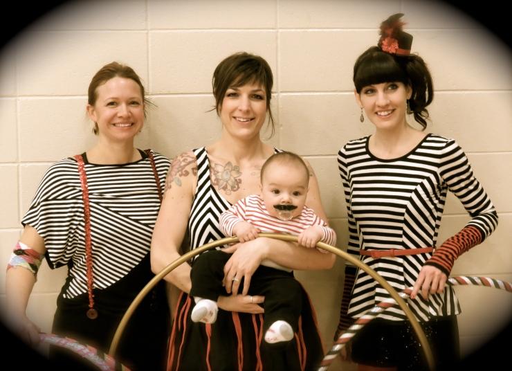 Twistin Vixens circus themed hula hooping costumes