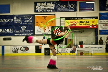 Twistin Vixens Hooping Performance at SCAR Dolls Roller Derby