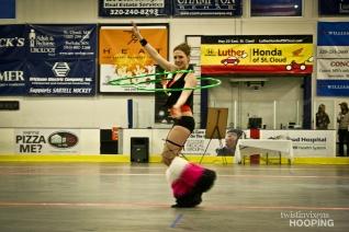 Hoop Dance Performance for Roller Derby Half-Time Show