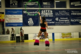 Twistin Vixens Hoop Dance Performance at SCAR Dolls Roller Derby
