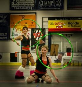 Twistin Vixens Hoop Dancers at SCAR Dolls Roller Derby