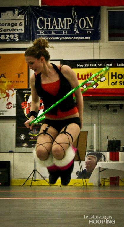 Hoop Dance Performance Jump Through