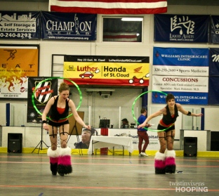 Twistin Vixens Hoop Dancers at SCAR Dolls Roller Derby