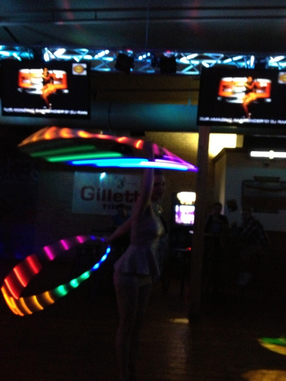 LED Hooping at the Bachelorette Party
