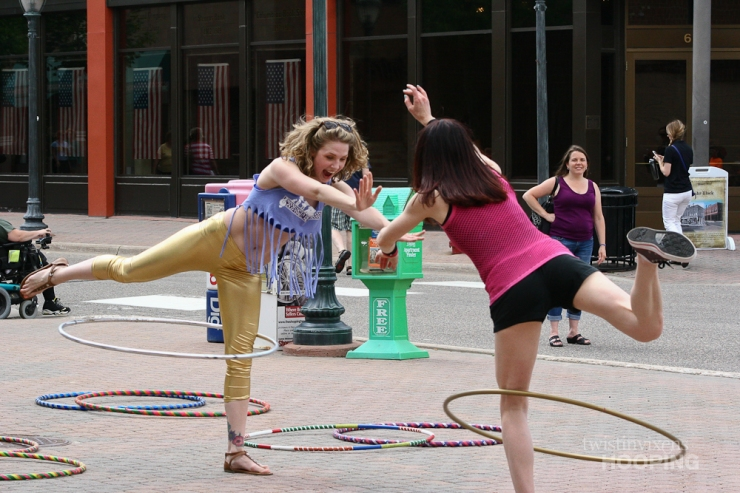 Hoop Dancers at the Downtown St. Cloud Walk About