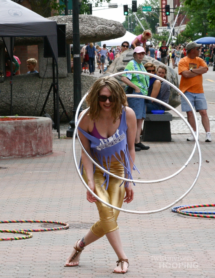 Kayla Hoop Dancing with Two Hoops
