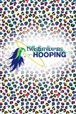 iphone wallpaper background image Twistin Vixens Hooping Logo