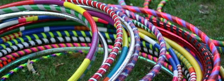 Decorated taped hoops