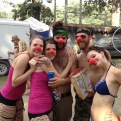 Twistin Vixens at Shangri~La 2013 representing the Red Nose Revolution