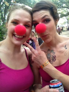 Kayla and Colleen Red Noses