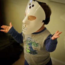 Adam in a Jason Mask