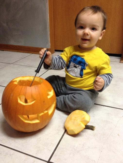 Halloween 2013 Adam's Pumpkin
