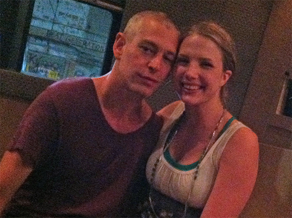 Kayla from the Twistin Vixens with Matisyahu in Minneapolis
