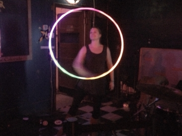 Nikki DeMars of the Twistin Vixens with LED Hoop