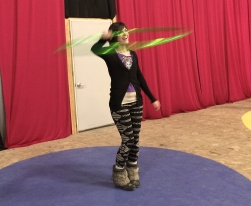 Colleen Hurley of the Twistin Vixens Hoop Dancing