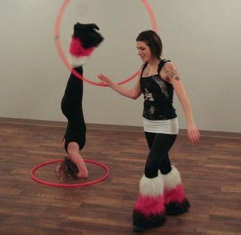 Hoopers at Return Yoga during Art Crawl