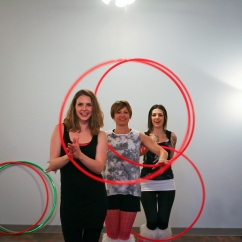 Hula Hooping at the Art Crawl