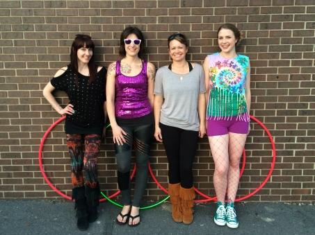 Amy, Colleen, Nikki and Kayla of the Twistin Vixens