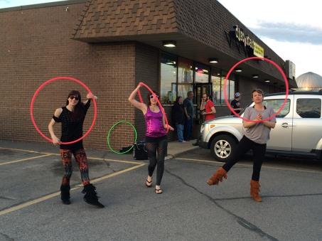 Hoop Dancers Guerilla Marketing